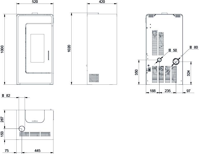 Bernina dimensions