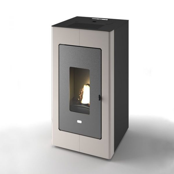 termostufa-stufa-a-pellet-idro-punto-fuoco-tortora-grigio-beige-